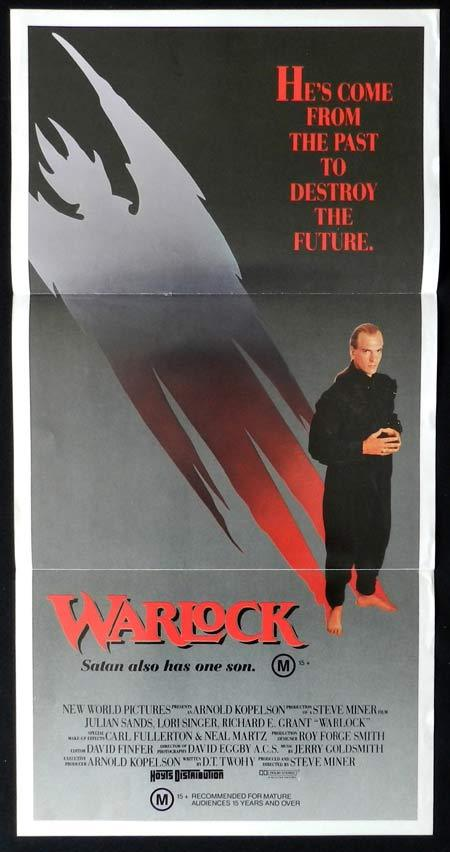 WARLOCK Original Daybill Movie poster Julian Sands Richard E. Grant