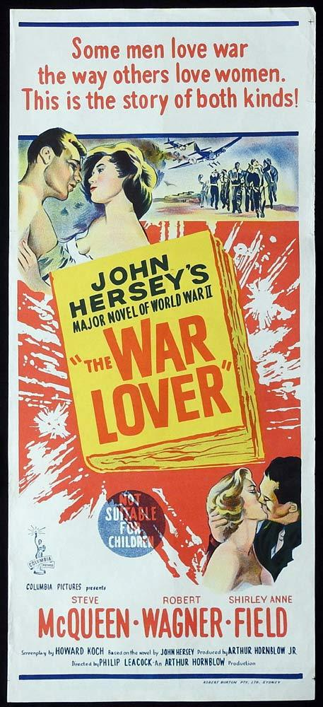 THE WAR LOVER Australian daybill Movie Poster 1962 Steve McQueen