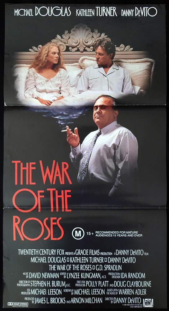 WAR OF THE ROSES Original Daybill Movie poster Michael Douglas Kathleen Turner