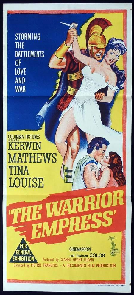 THE WARRIOR EMPRESS Original Daybill Movie Poster Kerwin Mathews Tina Louise Riccardo Garrone