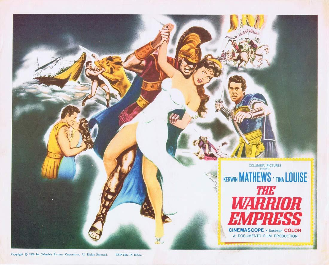 THE WARRIOR EMPRESS Title Lobby Card Kerwin Mathews Tina Louise