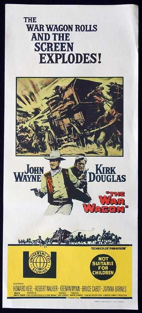 THE WAR WAGON Original Daybill Movie Poster John Wayne Kirk Douglas