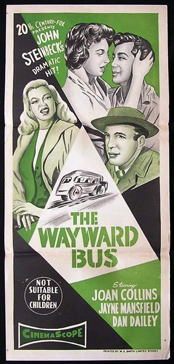 THE WAYWARD BUS '57 Jayne Mansfield Movie poster