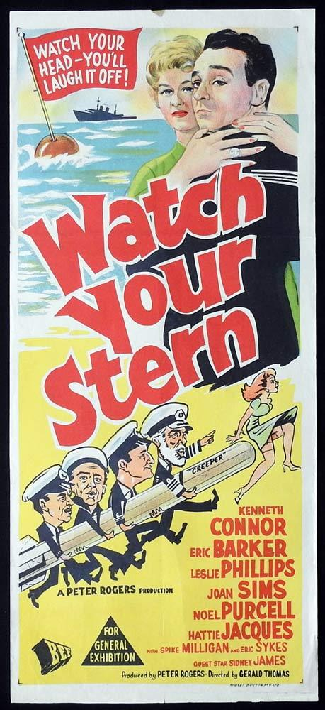 WATCH YOUR STERN Original Daybill Movie Poster Kenneth Connor Eric Barker Carry On
