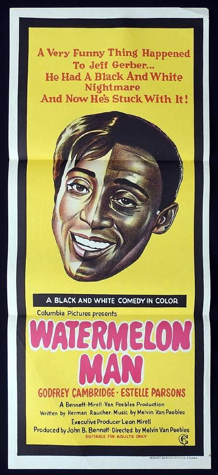 WATERMELON MAN Original Daybill Movie Poster Godfrey Cambridge Estelle Parsons