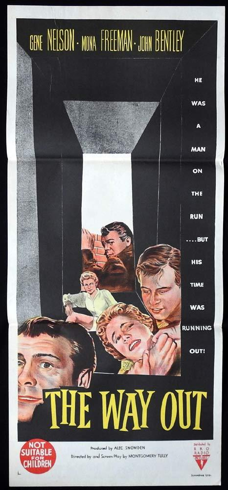 THE WAY OUT Original Daybill Movie Poster RKO Mona Freeman Film Noir