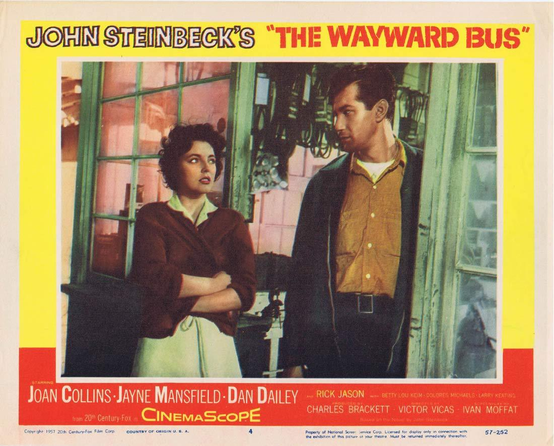 THE WAYWARD BUS Original Lobby Card 4 Joan Collins Jayne Mansfield