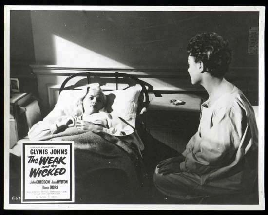 THE WEAK AND THE WICKED 1954 Diana Dors Rare British Film Noir Lobby Card 5