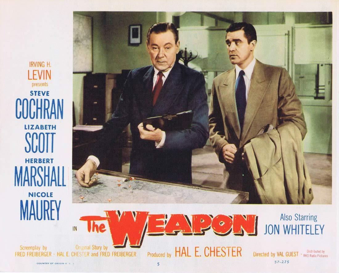 THE WEAPON Original Lobby Card 5 Steve Cochran Lizabeth Scott