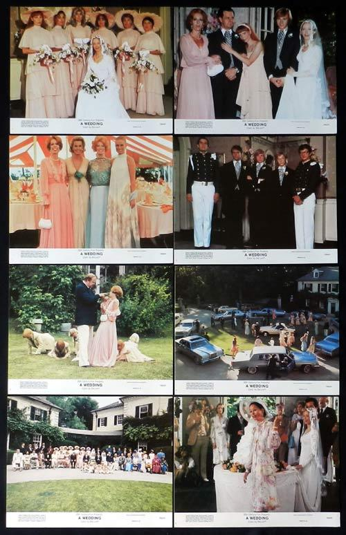 A WEDDING Lobby Card set Robert Altman Mia Farrow