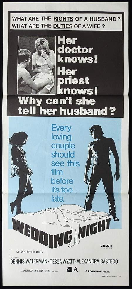 WEDDING NIGHT Original Daybill Movie Poster Dennis Waterman Tessa Wyatt