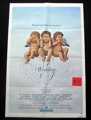 A WEDDING One sheet Movie Poster Robert Altman Mia Farrow