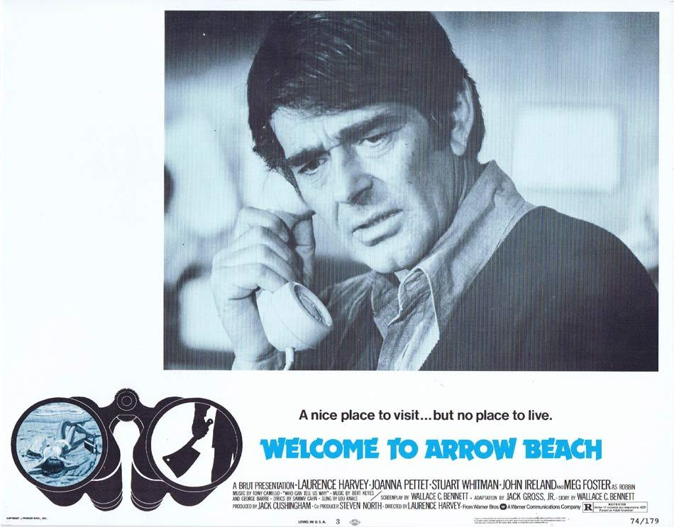 WELCOME TO ARROW BEACH Lobby Card 3 Laurence Harvey Joanna Pettet Meg Foster