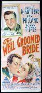 THE WELL GROOMED BRIDE Original Daybill Movie Poster Olivia DeHavilland Ray Milland Richardson Studio