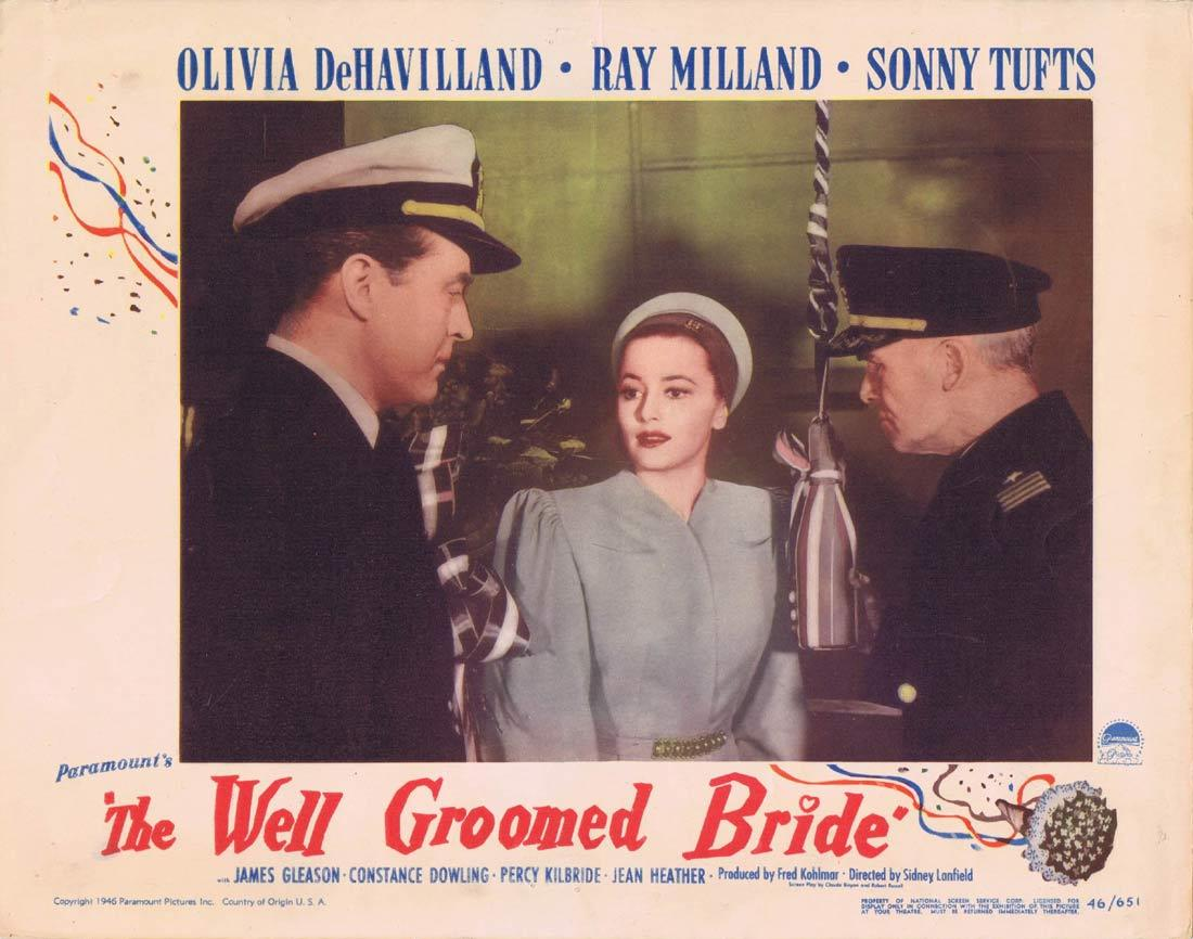 THE WELL GROOMED BRIDE Lobby Card Olivia de Havilland Ray Milland