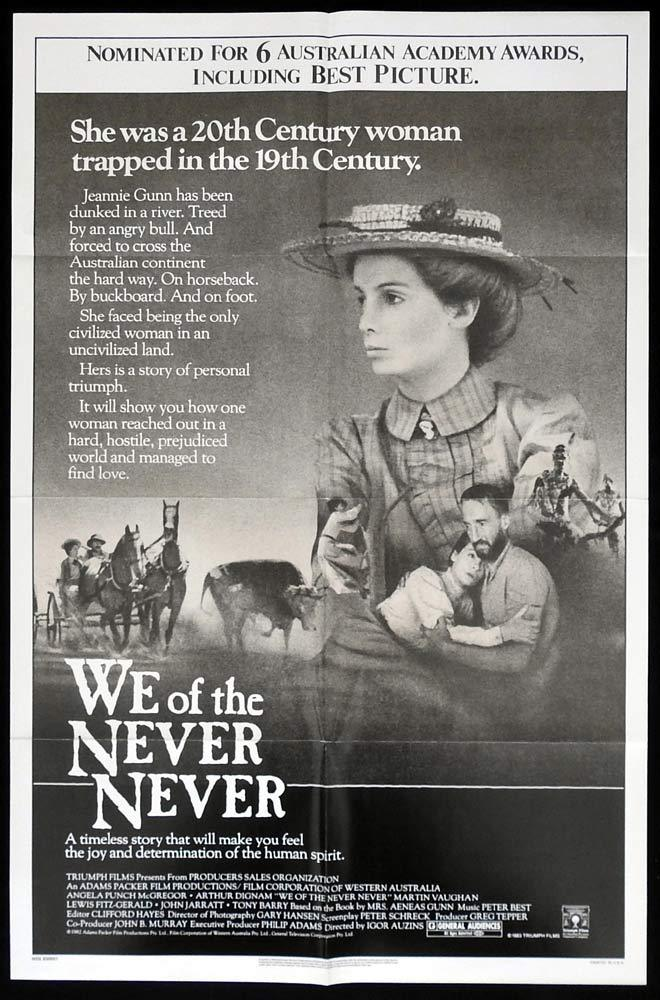 WE OF THE NEVER NEVER Original One sheet Movie poster Angela Punch McGregor