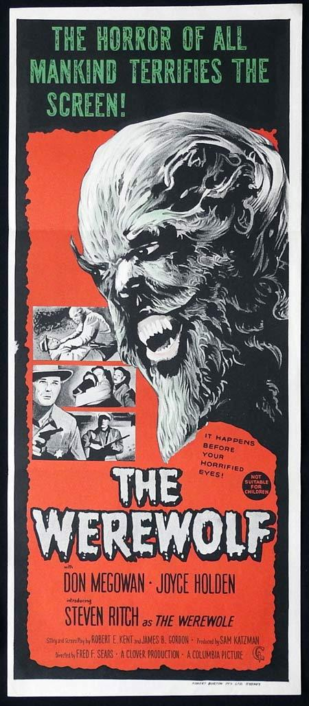 THE WEREWOLF Original Daybill Movie poster Don Megowan Joyce Holden