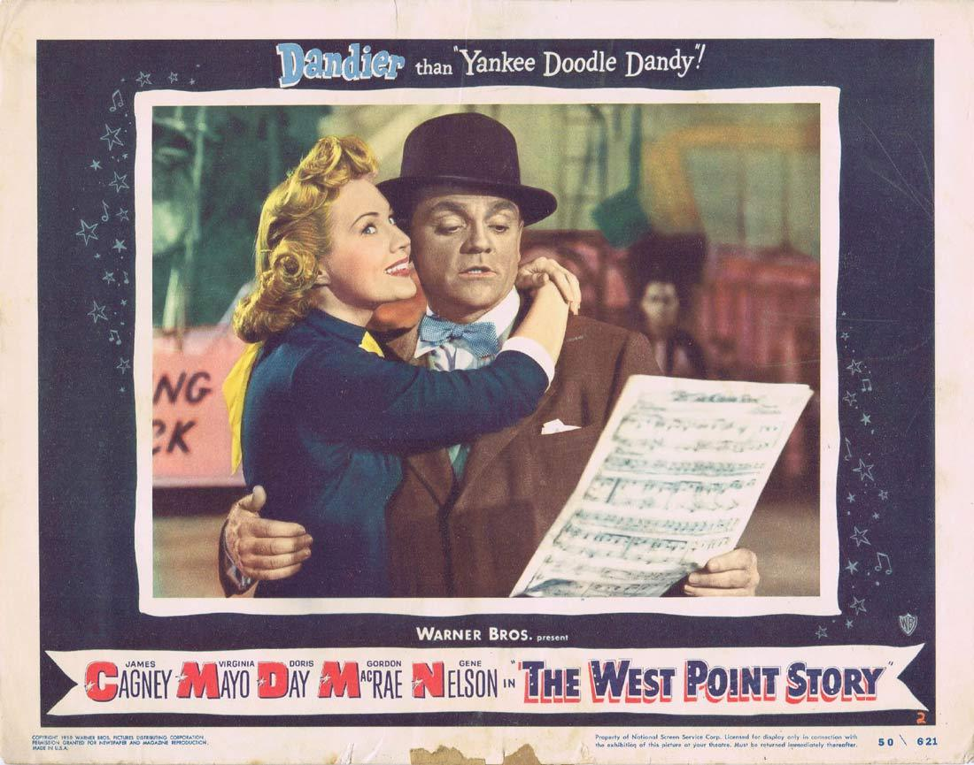 THE WEST POINT STORY Lobby Card 2 JAMES CAGNEY Virginia Mayo