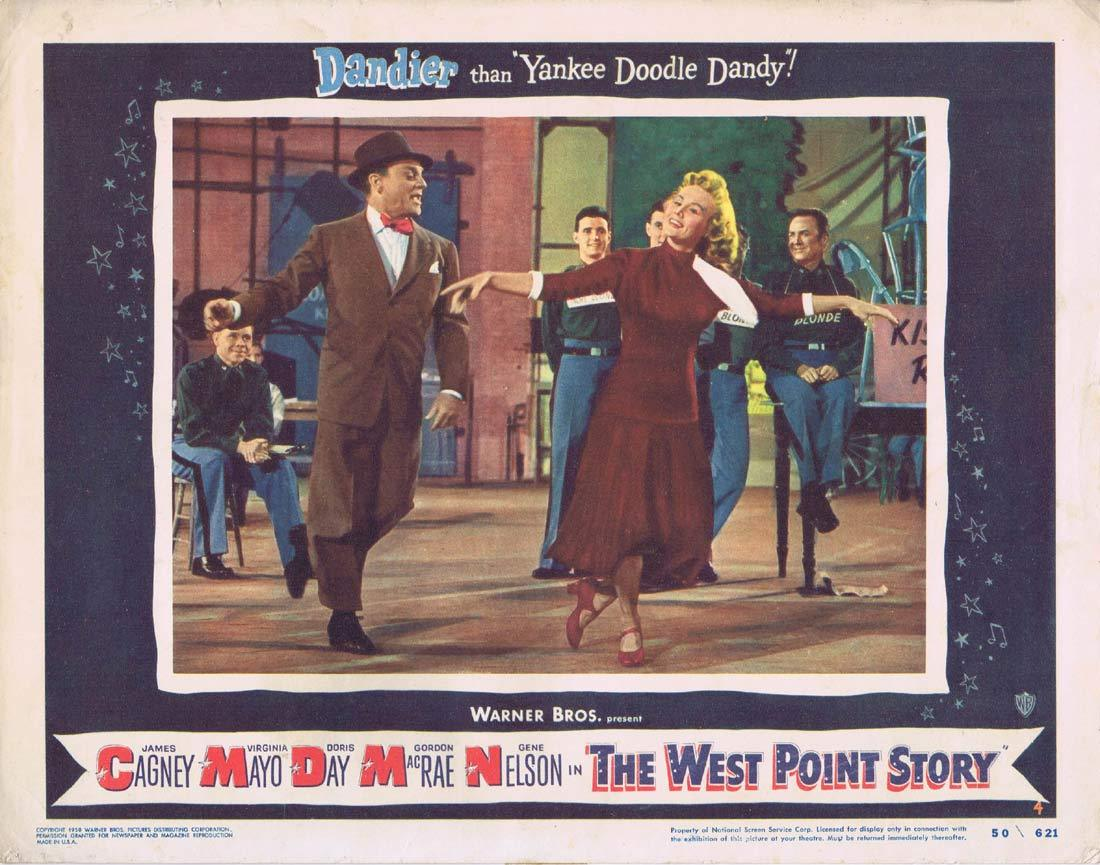 THE WEST POINT STORY Lobby Card 4 JAMES CAGNEY Virginia Mayo