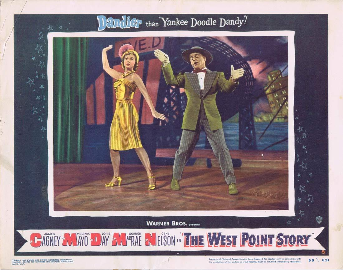 THE WEST POINT STORY Lobby Card 8 JAMES CAGNEY Virginia Mayo