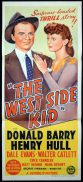 """THE WEST SIDE KID Original Daybill Movie Poster Don """"Red"""" Barry Henry Hull Dale Evans"""