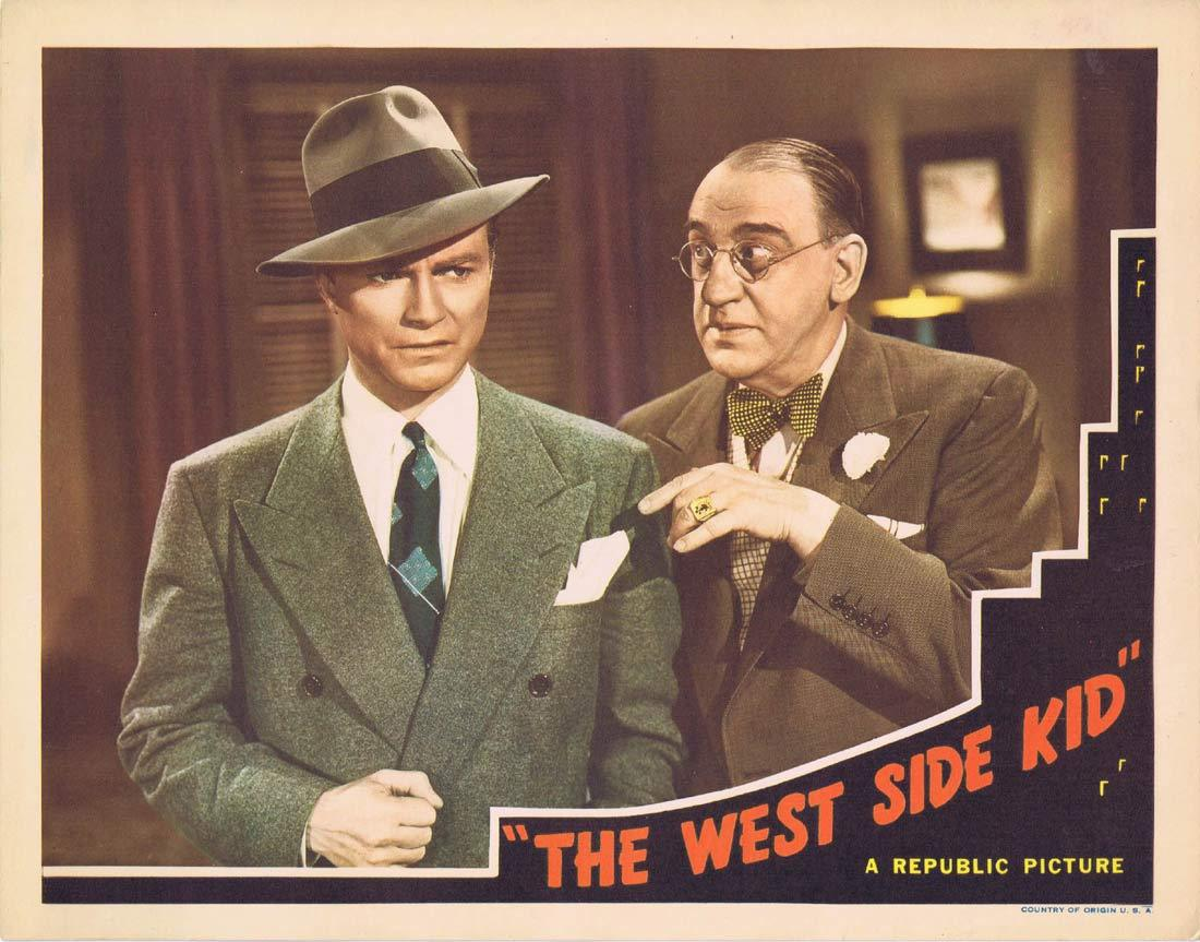 "THE WEST SIDE KID Original Lobby Card 3 Don ""Red"" Barry Henry Hull Dale Evans 1943"