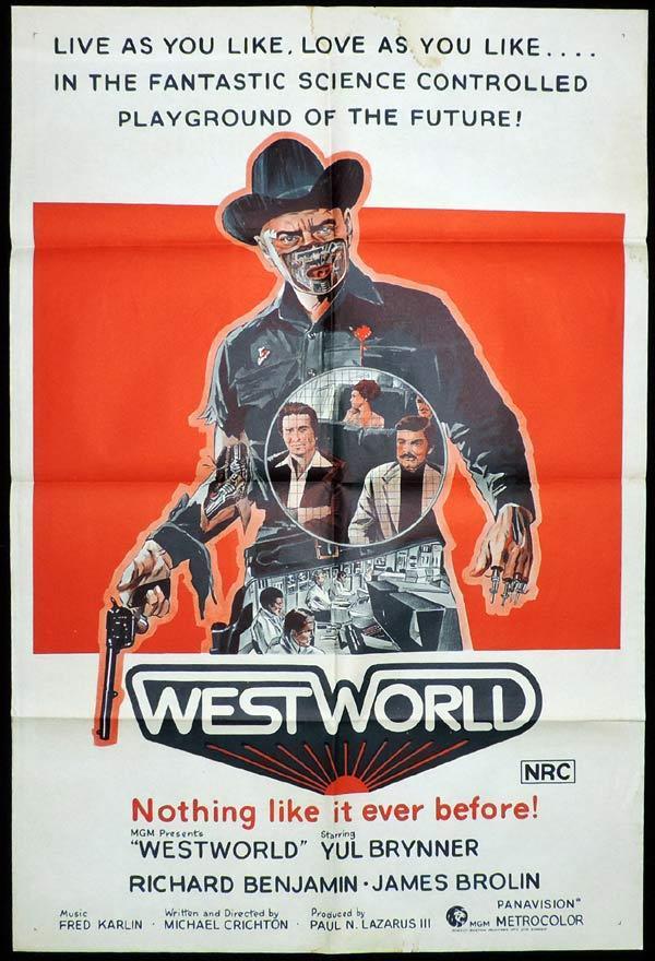 westworld one sheet movie poster yul brynner
