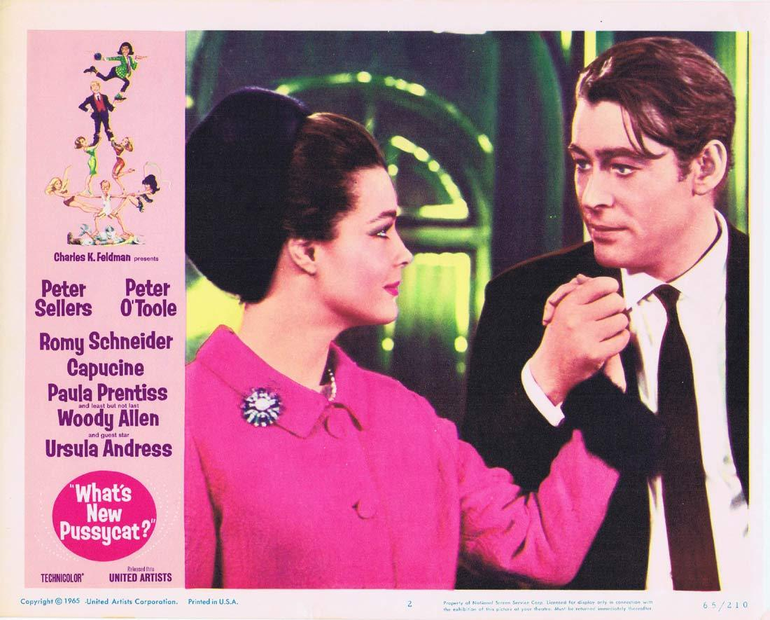 WHAT'S NEW PUSSYCAT Original Lobby Card 2 Peter Sellers Peter O'Toole