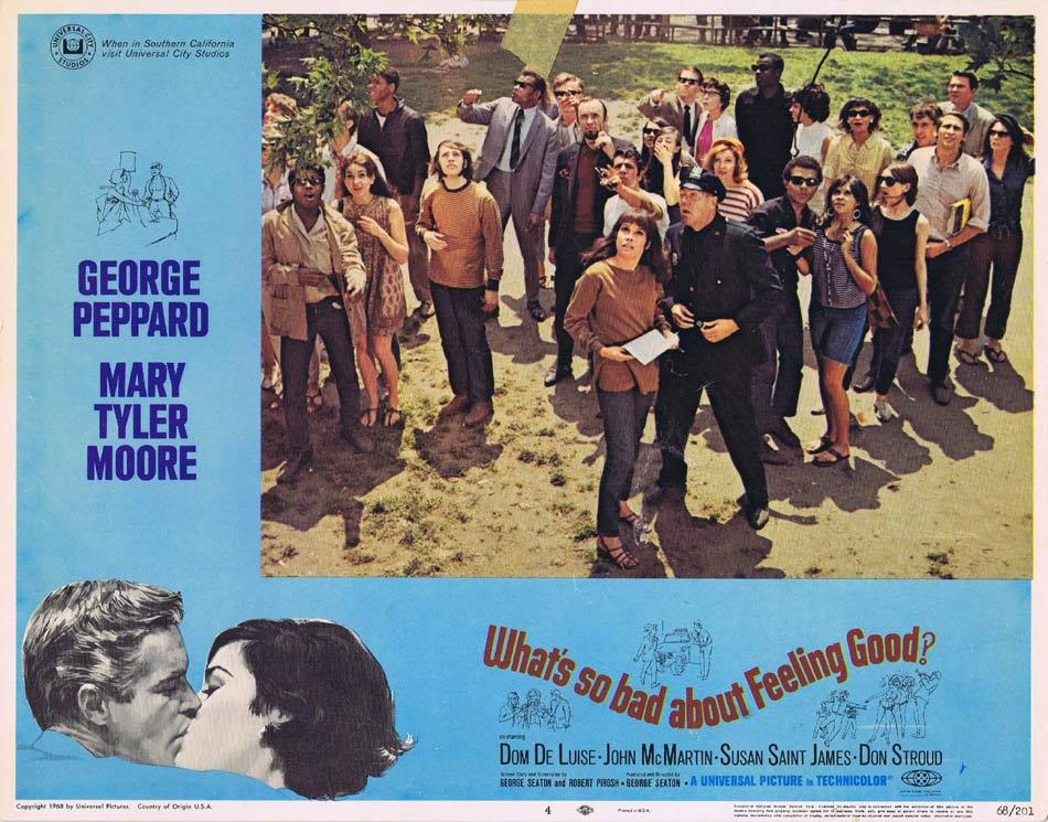 WHATS SO BAD ABOUT FEELING GOOD Lobby Card 24 George Peppard Mary Tyler Moore