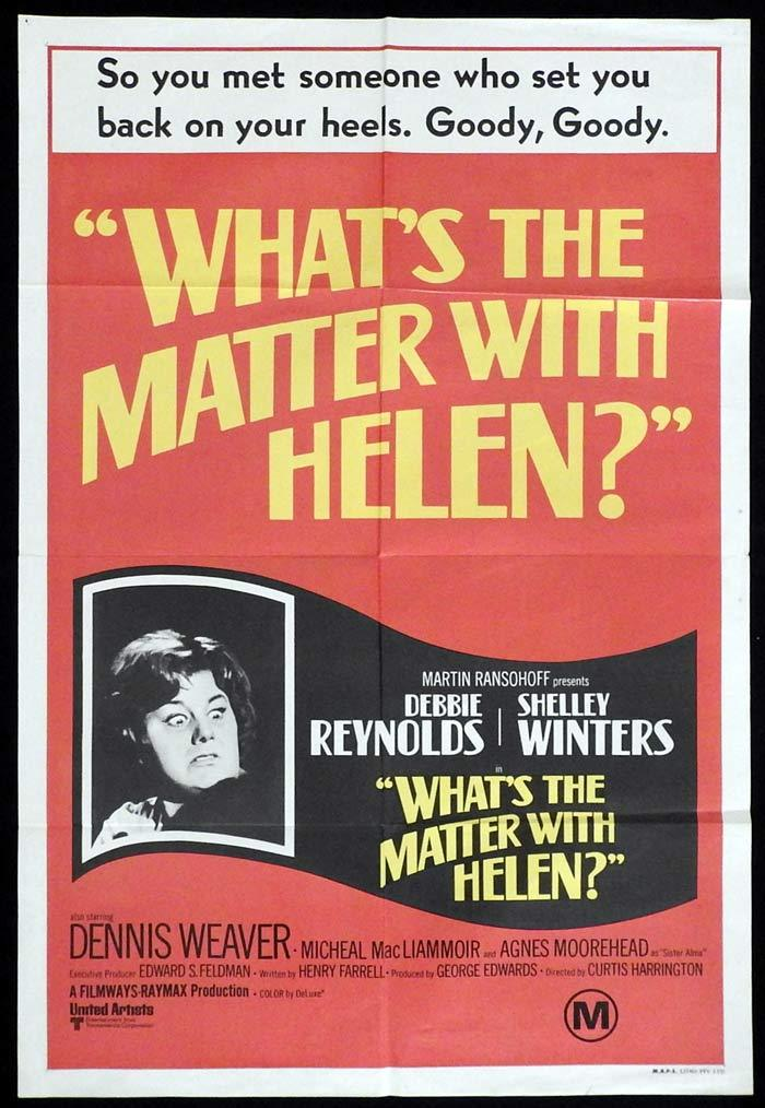 WHAT'S THE MATTER WITH HELEN Original One sheet Movie poster Debbie Reynolds Shelley Winters