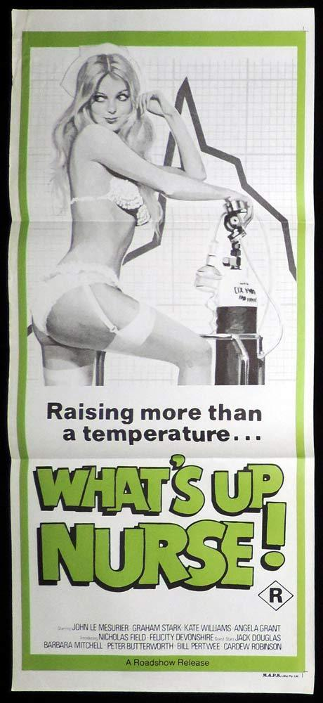 WHATS UP NURSE Original Daybill Movie poster Felicity Devonshire
