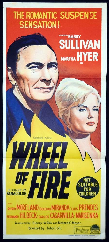 WHEEL OF FIRE Original Daybill Movie Poster Barry Sullivan Martha Hyer