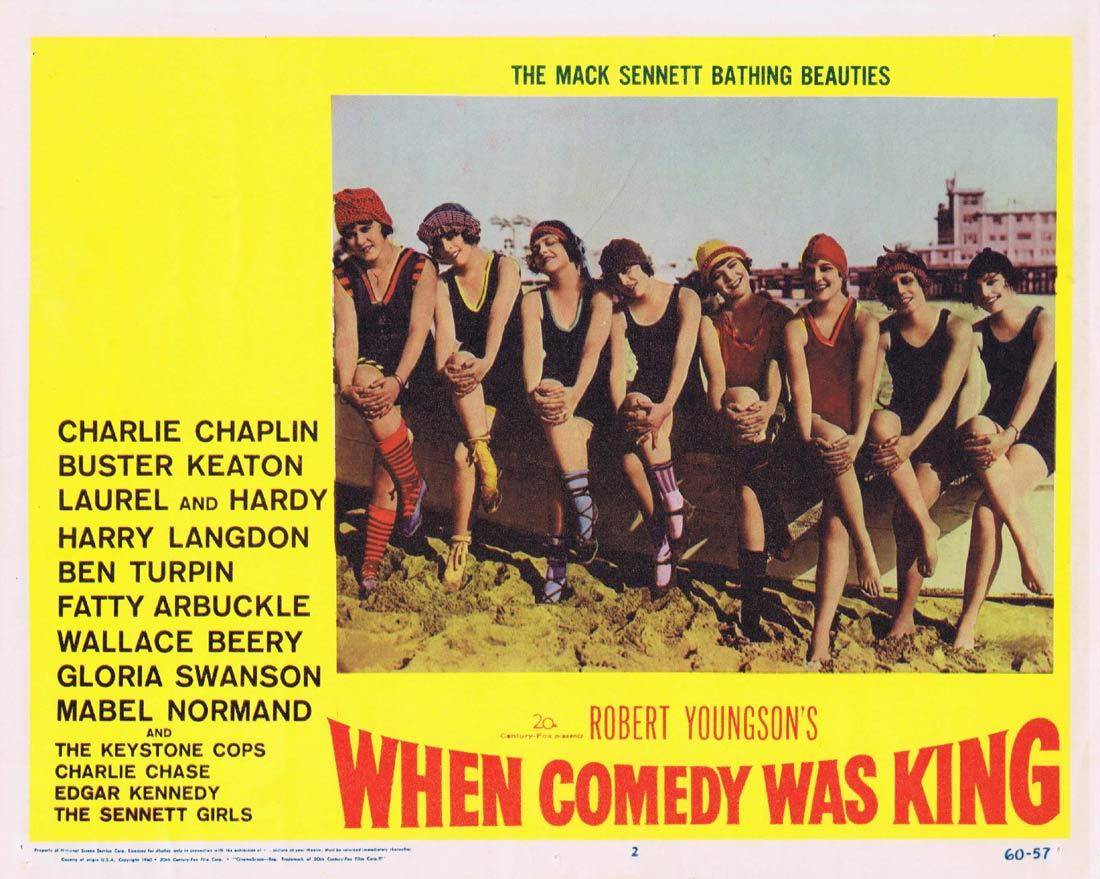 WHEN COMEDY WAS KING Lobby Card 2 Charles Chaplin Laurel and Hardy Buster Keaton