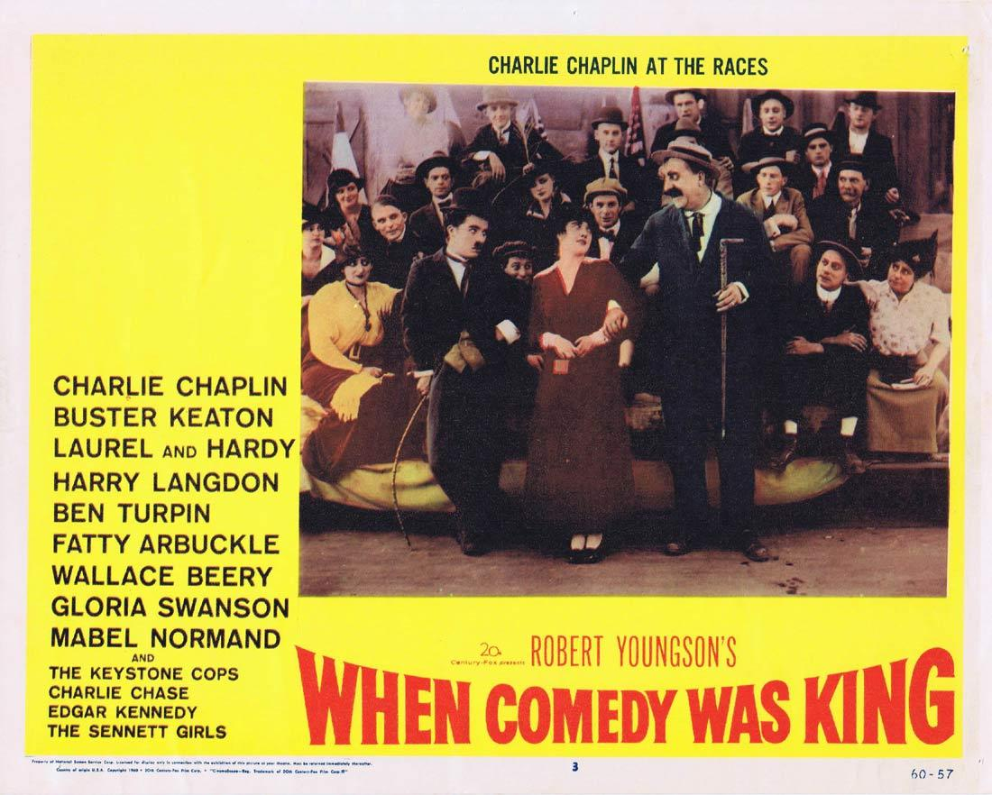 WHEN COMEDY WAS KING Lobby Card 3 Charles Chaplin Laurel and Hardy Buster Keaton