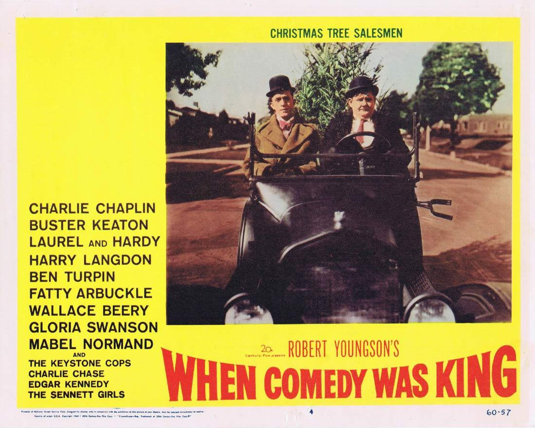WHEN COMEDY WAS KING Lobby Card 4 Charles Chaplin Laurel and Hardy Buster Keaton