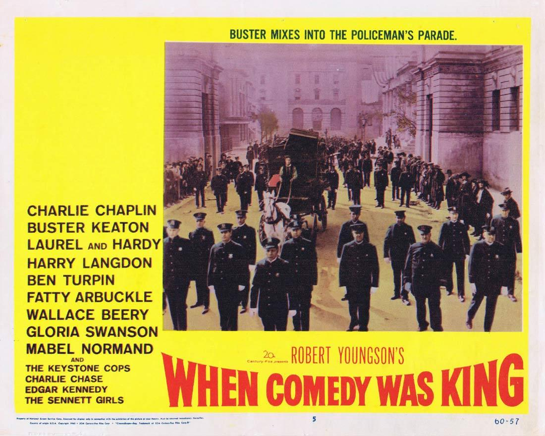 WHEN COMEDY WAS KING Lobby Card 5 Charles Chaplin Laurel and Hardy Buster Keaton