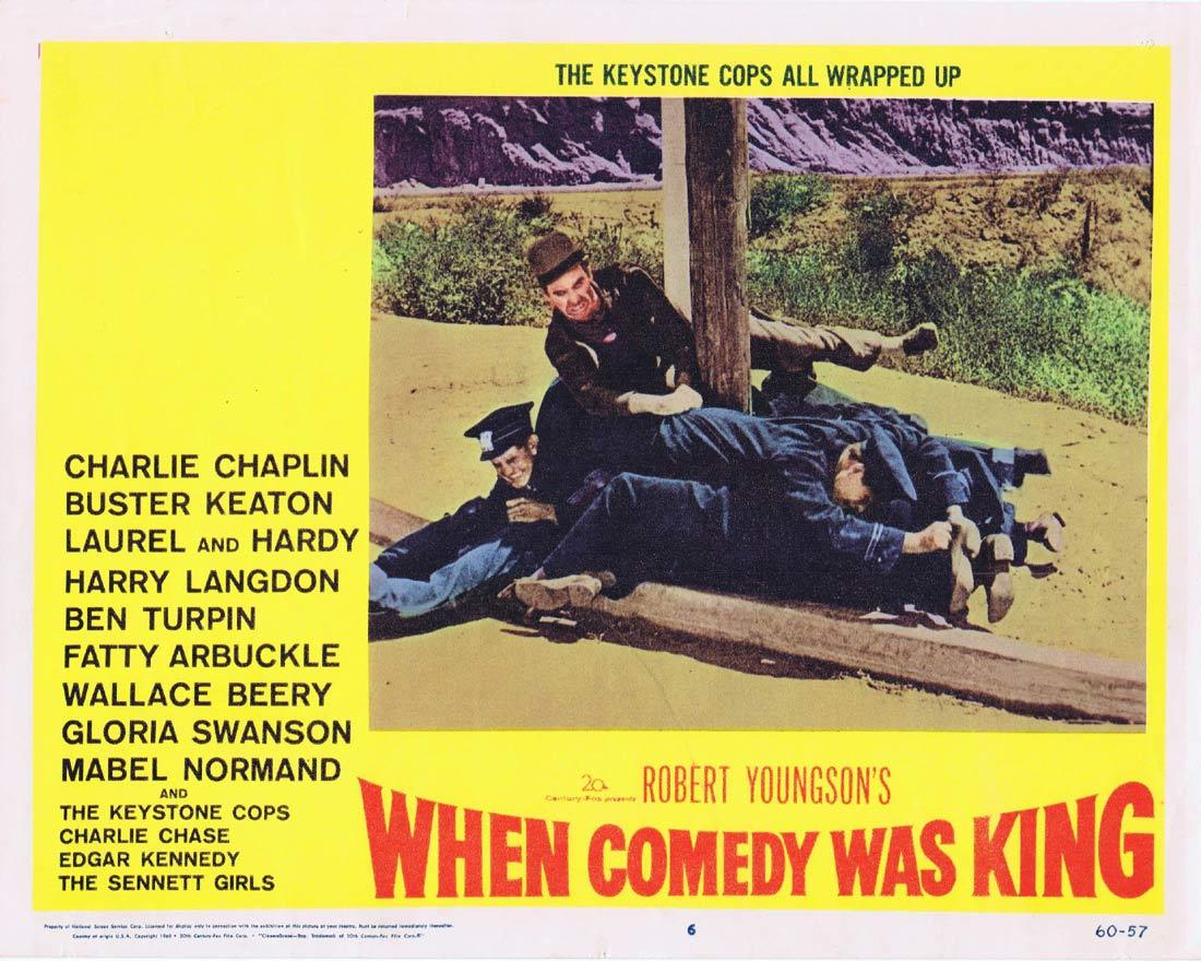 WHEN COMEDY WAS KING Lobby Card 6 Charles Chaplin Laurel and Hardy Buster Keaton