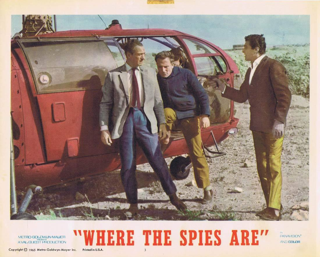 WHERE THE SPIES ARE Lobby Card 3 David Niven Françoise Dorléac John Le Mesurier