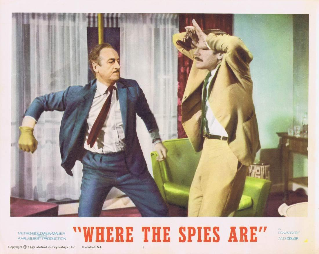 WHERE THE SPIES ARE Lobby Card 5 David Niven Françoise Dorléac John Le Mesurier