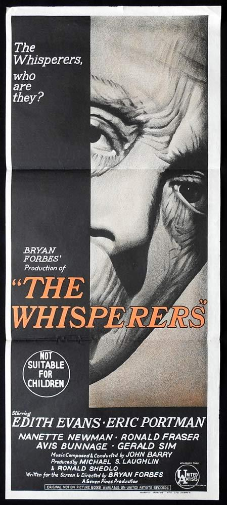 THE WHISPERERS Daybill Movie Poster Edith Evans Eric Portman