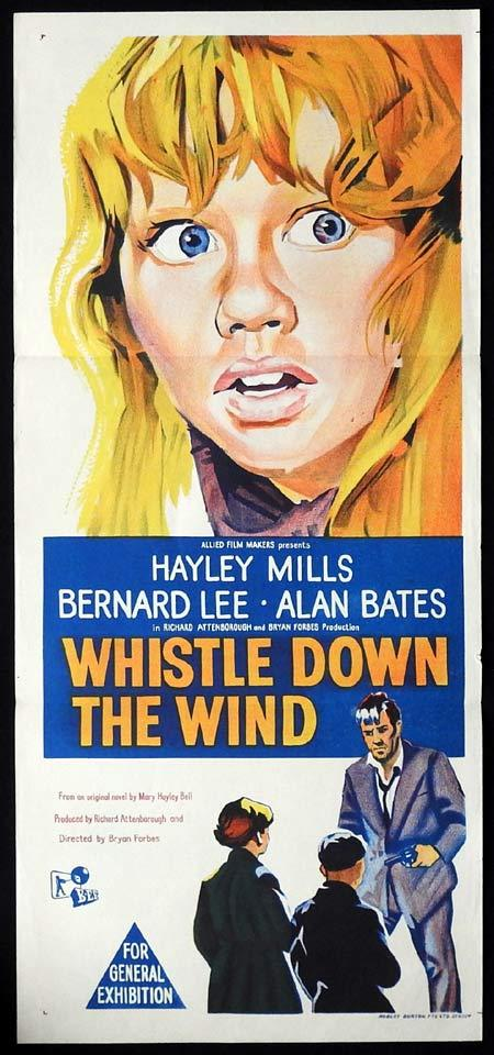 WHISTLE DOWN THE WIND Original Daybill Movie poster Hayley Mills Bernard Lee