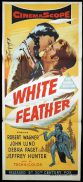 WHITE FEATHER Daybill Movie Poster Robert Wagner