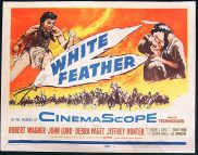 WHITE FEATHER '55 Robert Wagner Paget Title Lobby card