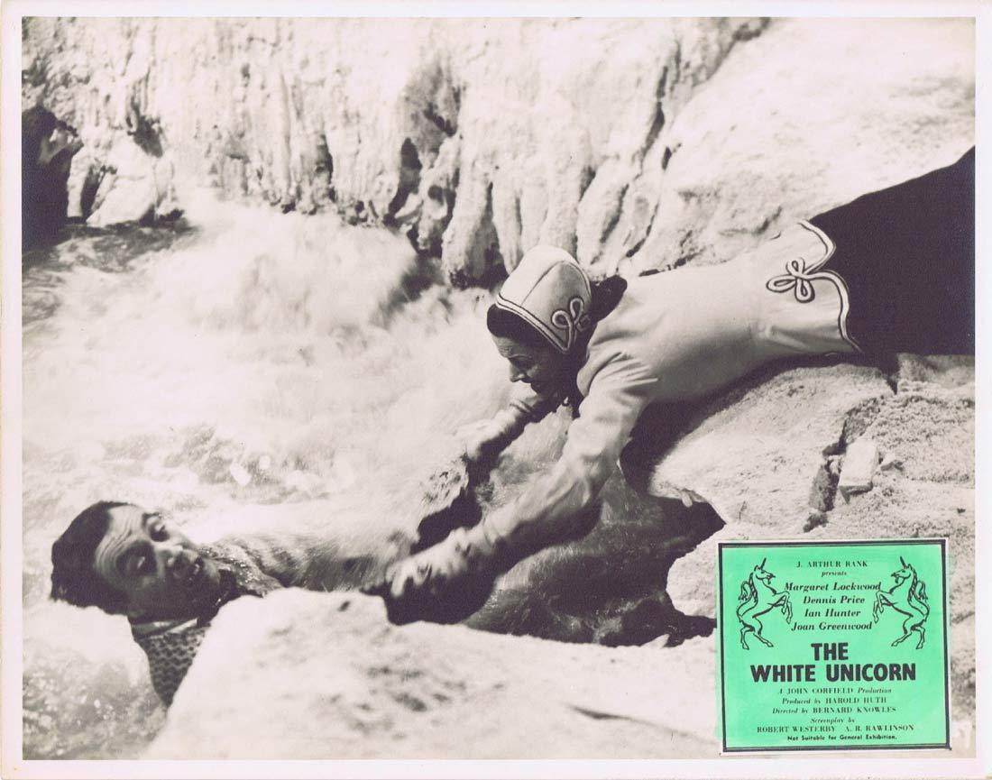 THE WHITE UNICORN Original Australian Lobby Card Margaret Lockwood Joan Greenwood