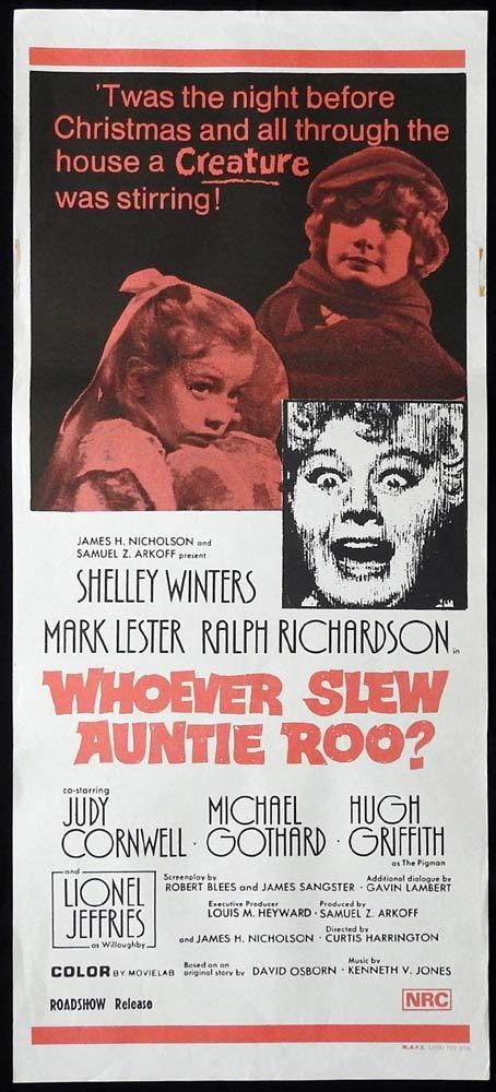 WHOEVER SLEW AUNTIE ROO Original Daybill Movie Poster Shelley WInters Horror