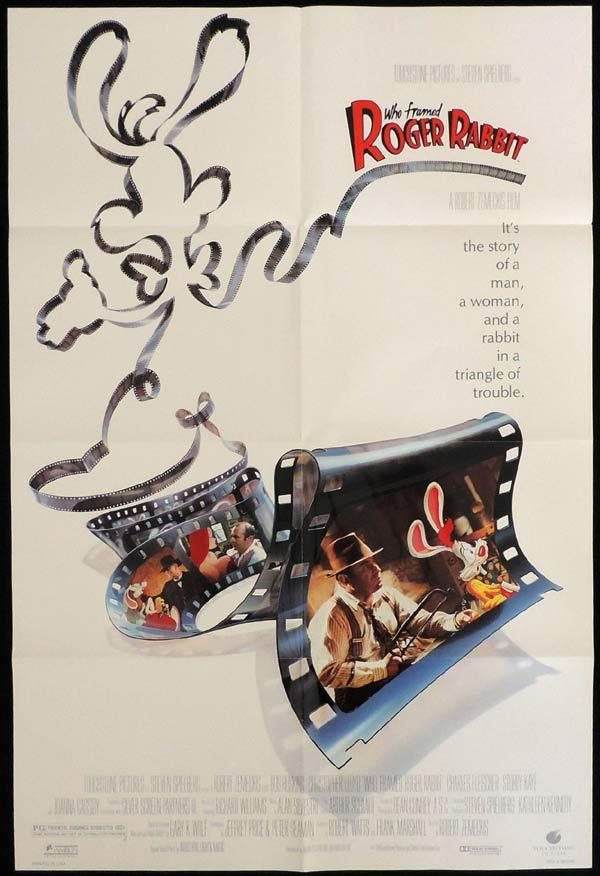 WHO FRAMED ROGER RABBIT US One Sheet Movie Poster Bob Hoskins