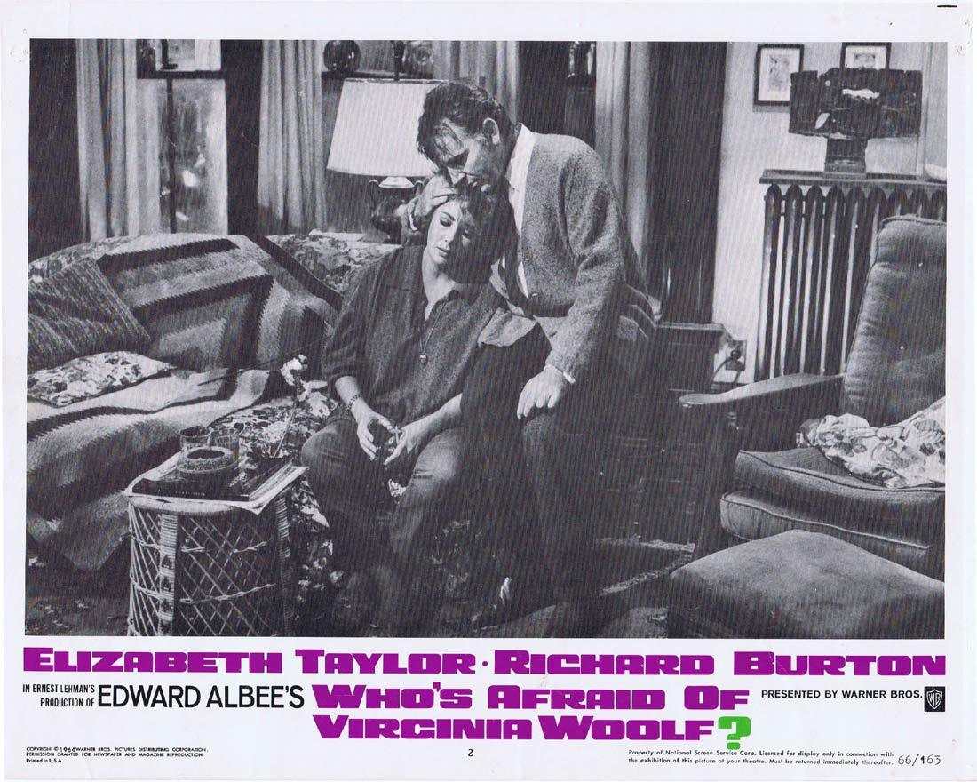 WHO'S AFRAID OF VIRGINIA WOOLF Original Lobby Card 2 Elizabeth Taylor Richard Burton