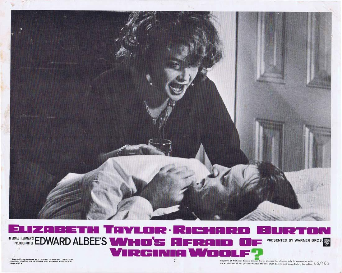 WHO'S AFRAID OF VIRGINIA WOOLF Original Lobby Card 7 Elizabeth Taylor Richard Burton