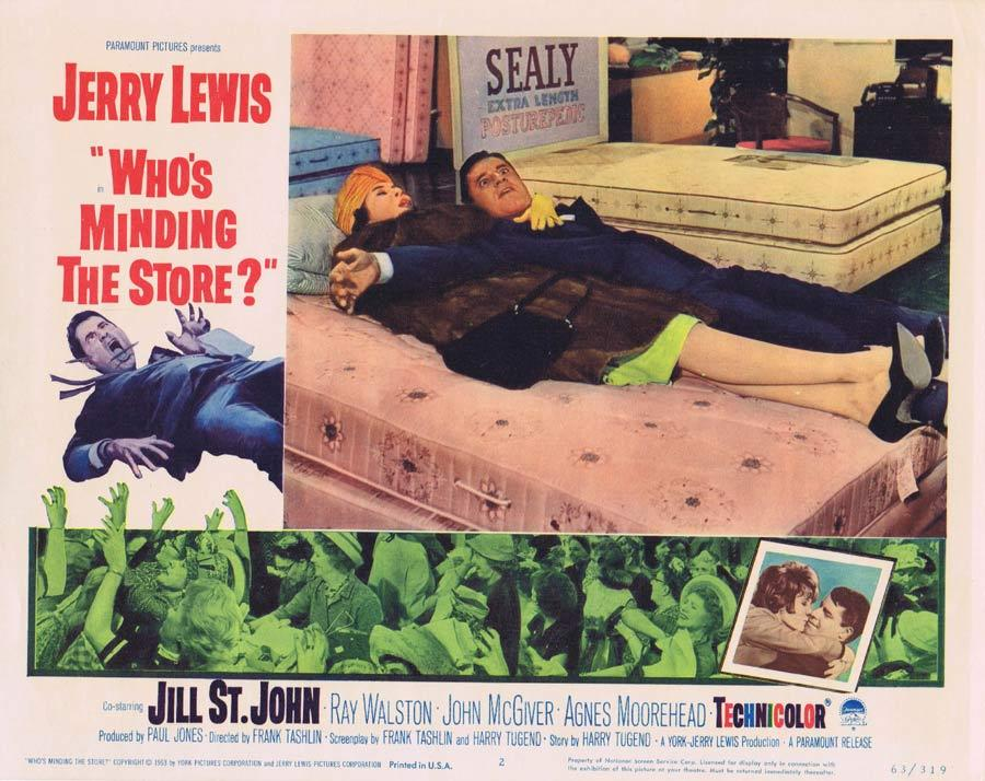 WHO'S MINDING THE STORE Lobby card 2 Jerry Lewis Nancy Kulp