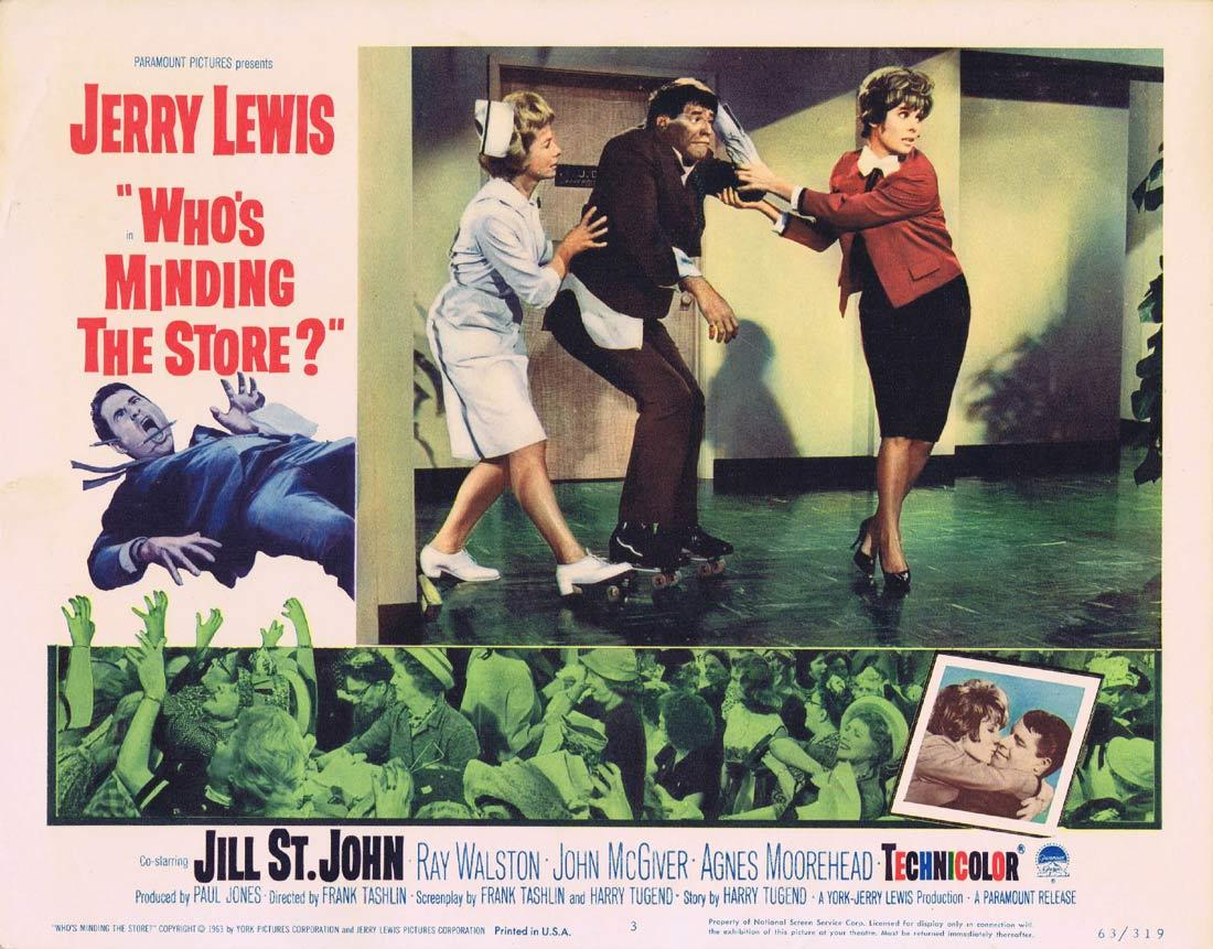 WHO'S MINDING THE STORE Lobby card 3 Jerry Lewis Nancy Kulp
